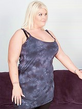 Chubby tattooed  British blonde hooks up with random guy who got the wrong door