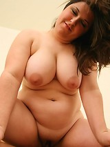 Chubby brunette filling her pussy with some hard cock meat